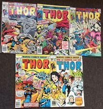 Mighty Thor (Series 1) 1975 # 258,259,260,261,262 John Buscema Wein Simonson Lot