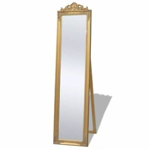vidaXL Miroir sur pied pour chambre salle de bain Style baroque 160 x 40 cm Doré
