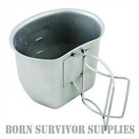 BCB CRUSADER METAL CUP Stainless Steel Silver Mug - 58 Patt British Army Bottle