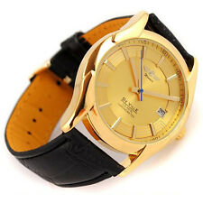 Luxury Mens Mechanical Automatic Calendar Date Leather Band Wrist Watches Watch