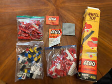 1963 Lego System by Samsonite Wheel Toy Set 605 Appears Complete Original Box