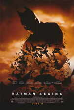 BATMAN BEGINS Movie MINI Promo POSTER D Christian Bale Michael Caine Liam Neeson