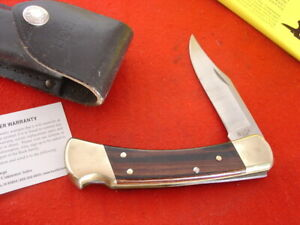"""Buck USA FOLDING HUNTER 110 5"""" 2003 Lockback Knife + Box & Sheath"""