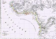 174 anni vecchia cartina Africa Gold Coast Guinea Togo Mali Timbuktu Sudan 1844
