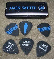 JACK WHITE metal Guitar Pick Tin + 6 picks LAZARETTO TOUR third man stripes