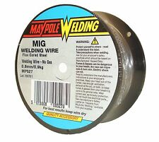 Gasless Mig Welding Wire 0.8mm/ 0.9kg Spool Flux Cored Steel Welders Maypole 527