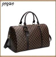 Large Capacity PU Leather luggage  Handbag Travel Shoulder Purse Duffel bag