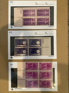 US Stamps- 1939 Year Set - SC# 852 - 858 Plate Blocks - MNH  - CV $21.50