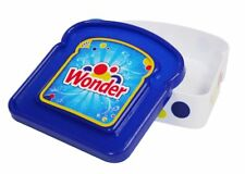 Wonder Bread Blue Sandwich Packer School Work Lunch Box Plastic Container Seal