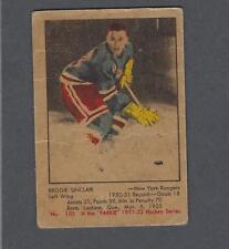 Original 1951-52 Parkhurst New York Rangers Hockey Card #103 Reg Sinclair RC