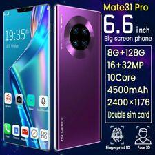 "Mate 31 Pro Smartphone 6.6 "" 2k Complet Écran 10 Coeur 8+128GB Smartphone 3G"