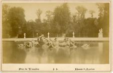 France, Versailles, parc de Versailles, le jardin d'Apollon  vintage albume