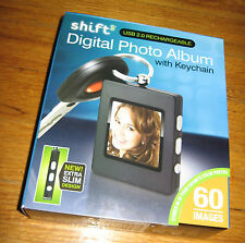 Digital Photo Album with Keychain, Rechargeable, NIB Shift USB 2.0