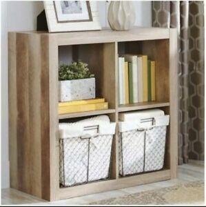 Better Homes and Gardens.. Bookshelf Square Storage Cabinet 4-Cube Organizer (4-