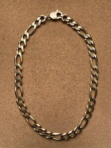 9ct SOLID GOLD FIGARO CHAIN HEAVY 125g