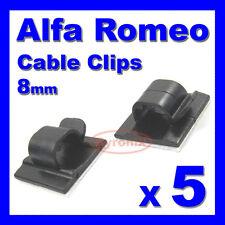 ALFA ROMEO Autoadesivo Cavo Clip CABLAGGIO FILI GUAINA CABLAGGIO 8mm Holder Clamp