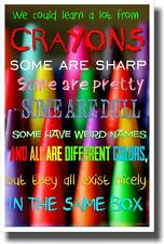 We Can Learn A lot From Crayons - NEW Classroom Motivational Poster