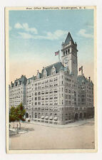 Wash Dc Post Office Dept Unused Old Postcard Pc3576