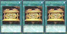 YUGIOH 3x Card Gold Sarcophagus LDK2-ENY22 Common 1st Edition Playset