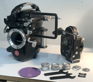BOLEX SUPER 16MM UNDERWATER HOUSING HIGHSPEED 1950's PACKAGE