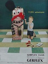 PUBLICITE GERFLEX CLAN REVETEMENT POUR SOL DALLE DE 1967 FRENCH AD PUB VINTAGE