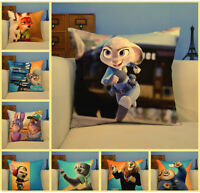 Zootopia 14'' Pillow Cover Cases Home Car Bed Sofa Cushion Covers Cotton Decor