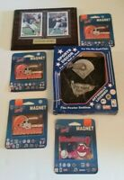 Sports Collectibles Lot INDIANS Magnet BROWNS Trading Card BRAVES Pewter Plaque