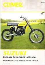 1977 1978 1979 1980 1981 Suzuki RM50 400 Twin Shock Clymer Repair Manual M371