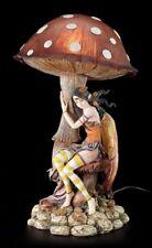 Elfos Lamparilla Con Hongo - Marrón - FANTASY Duende Lámpara de mesa decoración