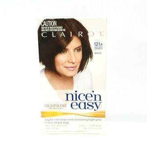 Clairol Nice Easy Colour Blend Permanent Hair Dye Brown 121A Natural Darkest