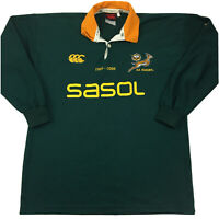 Canterbury South Africa Springboks Rugby Jersey 1906-2006 100 Year Anniversary M