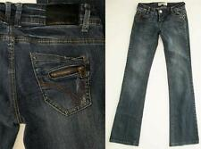 REDBAT Bootcut Zipper Pocket WHISKERED Rivet Detailed SIZE 8 (26) Jeans CUTE!