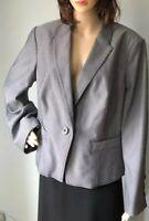 M&S Womens Smart Blazer jacket Stretch UK Size 20 Grey Black RRP £49.50 BNWT