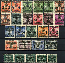 Poland German Occupation 1940 SG#372-391 Used Optd Set #D97190