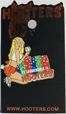 HOOTERS SEXY CASINO GIRL POKER CHIPS & PLAYING CARDS FT. LAUDERDALE FL LAPEL PIN