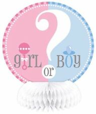 "4 Honeycomb Decorations 6"" Girl Or Boy Gender Reveal Party Supplies Table Baby"