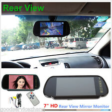 "7 "" TFT LCD Color Screen Rearview Mirror Color Monitor DVD Reverse Backup Camera"