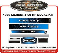 1979 MERCURY 90 hp Outboard Decals reproductions  115 140