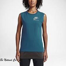 Nike Women's International Sleeveless Top S Green Black Gym Running Casual New