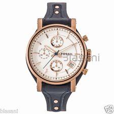 Fossil Original ES3838 Women's Boyfriend Navy Leather Watch 38mm