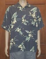 Mens Tommy Bahama Silk Hawaiian Camp Floral Button Up Shirt Size L Large (A11)