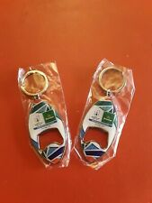 2 HEINEKEN BOTTLE OPENER /KEYRING RUGBY WORLD CUP  NEW  RARE/COLLECTABLE