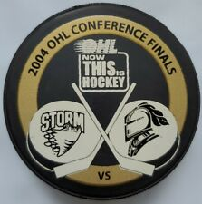 In Glas Co Dayton Gems Official Ice Hockey Game Puck Lot of 2