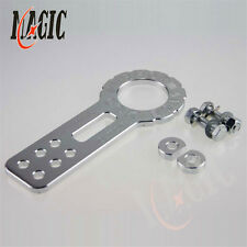 Universal Front Racing Tow Towing Hook Trailer Anodized Aluminum Silver