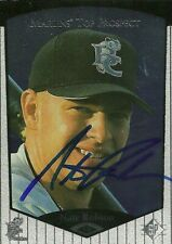 1999 Brevard County Manatees Nate Rolison Signed Card autograph Marlins