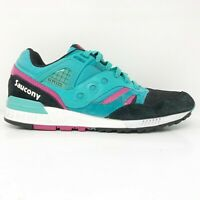 Saucony Mens Grid SD S70164-2 Teal Black Running Shoes Lace Up Low Top Size 10.5