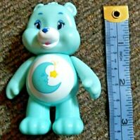 "Care Bear PVC 3"" Figure BEDTIME BEAR Jakks Blue Moon Star Free Shipping"