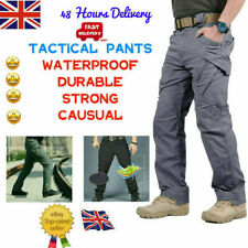 Mens Waterproof Tactical Combat Trousers Outdoor Fishing Walking Hiking Pants