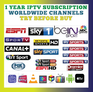 IP''TV 12 MONTHS SUBSCRIPTION +TRY BEFORE BUY