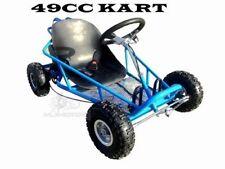 Brand New 49cc Mini Go Kart 4 Wheeler Kids 2 Stroke Buggy Quad Atv Dirt Bik Blue